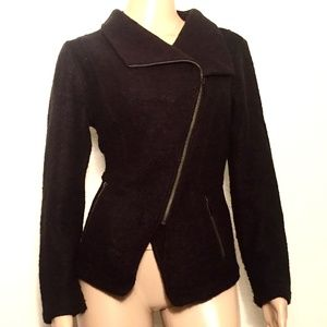 Halogen wool blend zip front jacket. size M